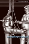 Slave cartoons. Young girl humiliated by old fat pervert!