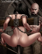 Bdsm art toons. A guy likes rough sex, he tied the girl to the bed and