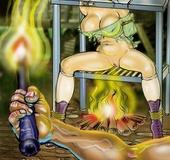 Slave girl. Please! I'll do anything!!! Yo're coockig me alive!