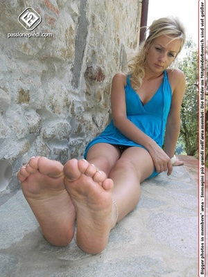 Delicious petite blonde babe in blue dre - XXX Dessert - Picture 6