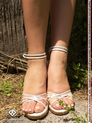 Lovely feet stunning blonde babe teasing - XXX Dessert - Picture 3