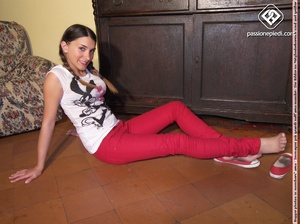 Xxx foot pics of petite hottie in red pa - XXX Dessert - Picture 3