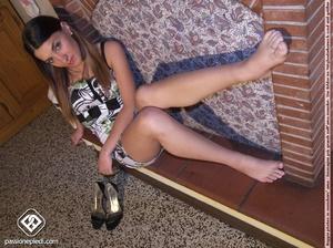 Super hot brunette bimbo in short dress  - XXX Dessert - Picture 6
