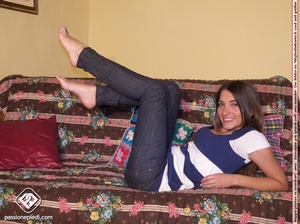 Check out lovely feet this brunette chic - XXX Dessert - Picture 5
