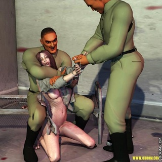 Free bdsm comics. Military captive and tied to a bed.