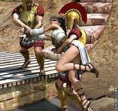 Bondage toons. Princess captured rimlyanskie warriors and sent into slavery.