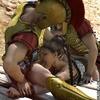 Slave comics. Roman legionnaires fuck all their captives, in every hole!