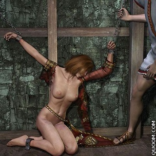 Submission comics. Trojan princess was put in prison, and there she was all fucked.
