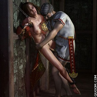Bdsm comics. Hot brunette loves sex when she was in chains and can not move.