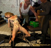 Bdsm art. They torture her body with electricity again and again!