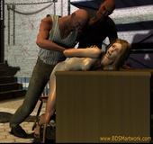 Free bdsm comics. Blonde girl humiliated and fucked by two cruel guys!