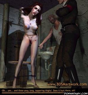 Slave girl. Naked brunette gets her ass spanked!