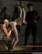 Submission art. They inspect slave's pussy and asshole!