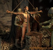 Sex slave comics. What gonna do this cruel orks with this tied elf girl!