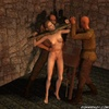 Fetish cartoons. Chained and crucified slave girls!