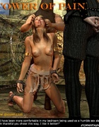 Slave girl comics. Impaled girl cries for mercy!