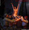 Free bdsm comics. She is hanged, completely naked and they touching her