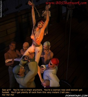 Free bdsm comics. Cruel pirates deflorated her by finger!