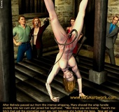 Bondage cartoons. Men tortures girls, and girls torture men!