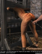 Bdsm cartoons. Slave girl gets spanked ant then fucked!