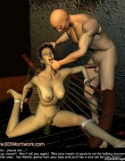 Bdsm cartoons. Bound girl forced to give a head!