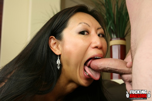 Tia Ling pukes out saliva from gagging a - XXX Dessert - Picture 3
