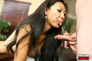 Tia Ling pukes out saliva from gagging a - XXX Dessert - Picture 5