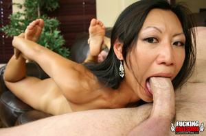 Tia Ling pukes out saliva from gagging a - XXX Dessert - Picture 7