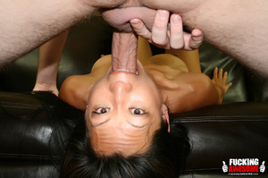 Tia Ling pukes out saliva from gagging a - XXX Dessert - Picture 9