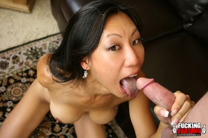 Tia Ling pukes out saliva from gagging a - XXX Dessert - Picture 15