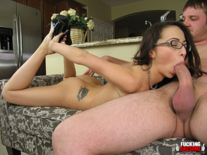 Veronica Jett swallows cock for some dee - XXX Dessert - Picture 4