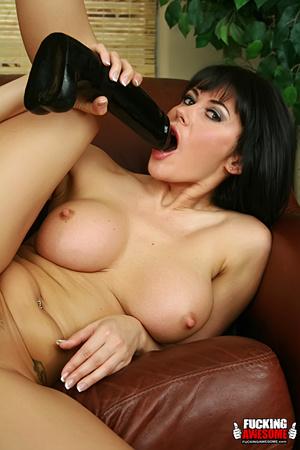 Eva Karera slips a wet black dildo insid - XXX Dessert - Picture 14