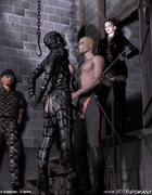 Sado comic. Militaru guys delivered new slaves in castle!