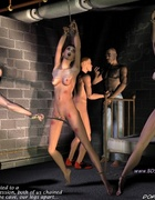 Bdsm art toons. Two office girls humiliated by filthy criminals!