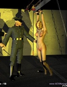 Horror comics. Blonde slave opens her ass cheecks so her master couls