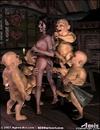 Slave art. Cruel gnome humiliate Snow White in all possible ways!