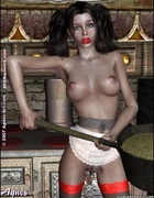 Slave cartoons. Snow White has her both holes plugged!