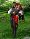 Slave girl. Prince take Snow White out of gnomes!