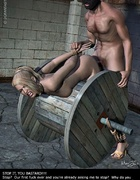 Adult bondage comics. Bound girl tries to escape her prison!