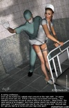 Bdsm cartoons. Horny doctor tied and spanked sexy nurse!