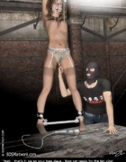 Bondage art. Slave girl fucked by her Master in mask!