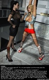 Bdsm art drawings. Strict mistress going to spank her slave!