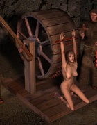 Slave comics. Medieval tortures of slave girls!