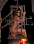 Bdsm art drawings. Slaves crucified and taken to cell!