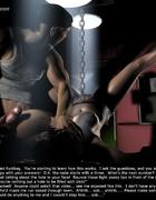 Torture drawings. Cruel master tortures her nipples!