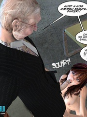Busty 3d young school girl asked to suck cock - Cartoon Sex - Picture 5