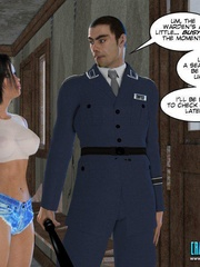 Busty 3d young school girl asked to suck cock - Cartoon Sex - Picture 6