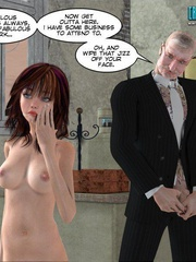 Busty 3d young school girl asked to suck cock - Cartoon Sex - Picture 7