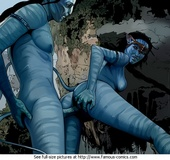 Sex starving toon couple from Avatar trying hardcore sex in various positions.