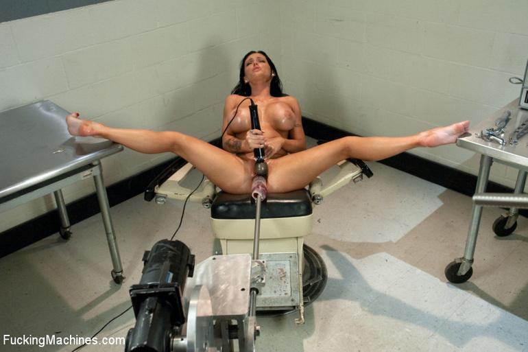 huge dildo machine bondage